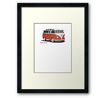 21 Window VW Bus Red/White Framed Print