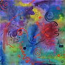Alien reply, abstract oil on linen by Regina Valluzzi