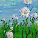 Pink White flowers by Regina Valluzzi