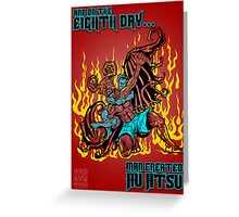 On The Eighth Day Man Created Jiu Jitsu Greeting Card