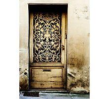 Door in Langres Photographic Print