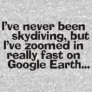 I&#x27;ve never been skydiving, but Ive zoomed in really fast on Google Earth... by digerati
