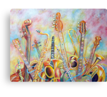 Music Bouquet Canvas Print
