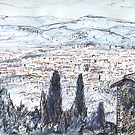 Florence From Fiesole by John Douglas