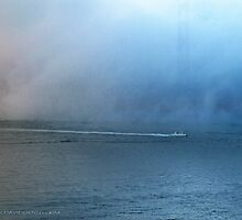 Fishing Boat in the Mist. by David Denny
