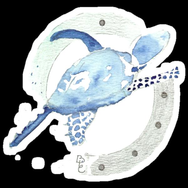 Blue Turtle in a Periscope by Bernadette Crotty