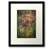 Merry Christmas Rosella Framed Print
