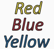 Red Blue Yellow Kids Clothes