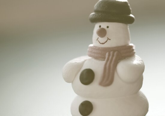 soft sugar snowman by Emma Harckham