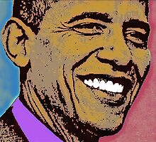 BARACK OBAMA-44TH by OTIS PORRITT