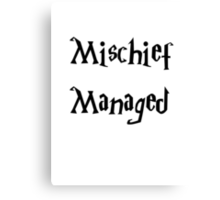 Harry Potter Mischief Managed Marauder's Map Canvas Print