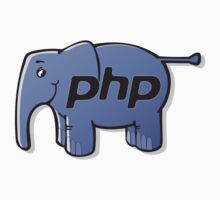 PHP elephant logo T-shirt by Michael Sundburg