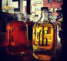 Bier in Glass Jugs - LandBrot by SylviaS