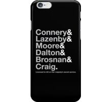 Bond Actor Jetset iPhone Case/Skin