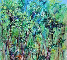 Whirlwoods acrylic on canvas by Regina Valluzzi