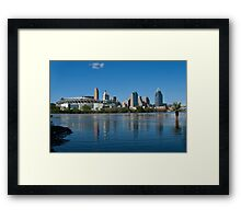 Cincinnati skyline 8 Framed Print