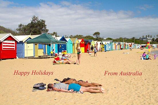 Happy Holidays. Brighton Beach  by Pauline Tims