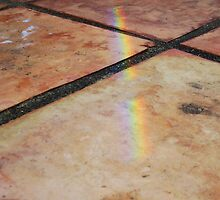 Rainbow On Pavement - One - 21 11 12 by Robert Phillips
