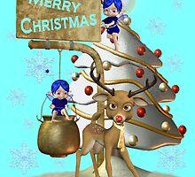 Reindeer Christmas by LoneAngel