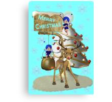 Reindeer Christmas Canvas Print