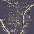 The Bath Typographic Map by beautifulbath