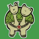 Two Happy Turtles by Barbo