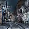 Night in the Shambles York by Trevor Kersley