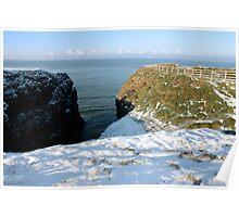 winter snow cliff walk Poster