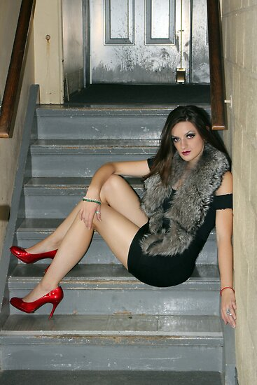 Red Shoes, red...eyes, lips, wristlet by photobylorne