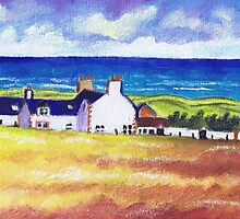 White Cottages at Balmedie by ALICE STUART