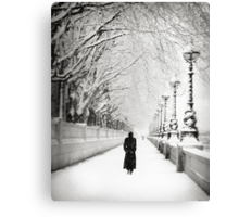 Figures in the Snow  Canvas Print