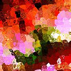 Multi color Abstract Art of Spots by Mario Perez