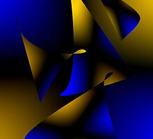 Blue and Brown Abstract Design by Mario Perez