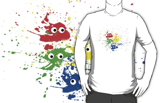 Paint Splat tee by Carol and Mike Werner