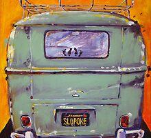 'Slopoke VW Bus' Volkswagen Type II by Kelly Telfer