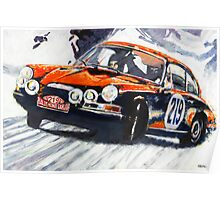 'Monte Carlo Rallye Porsche 911' Porsche Poster