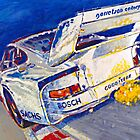 'Canepa Attacking the Corkscrew (935 Porsche)' Racing  by Kelly Telfer
