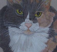 Lizzy-Tortoiseshell Cat Commission by Anita Meistrell Putman