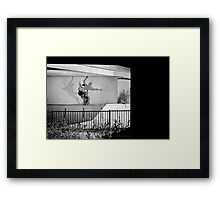 Patrick Melcher - Bluntslide to Fakie - Sacramento - Photo Bart Jones Framed Print