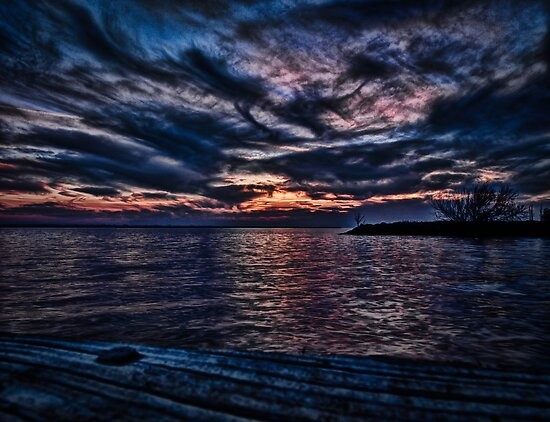 Sunset on Lake Poygan 4 by Thomas Young