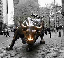 Wall Street Bull by Haz Preena