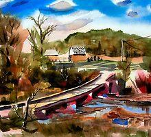 Low Water Bridge on Stout's Creek 3 by KipDeVore