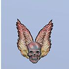 WINGED SKULL  by David Michael  Schmidt