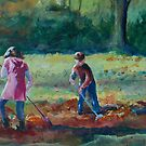 Raking Leaves by Lora Garcelon