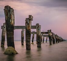Remnants of the Past at Dusk, Clifton Springs by Julie Begg