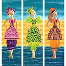 Beach Bloomers ~ just old fashioned girls by Lisa Frances Judd ~ Original Australian Art