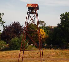 Old Bell Tower at Christ Church in Kilmore Vic Australia by Margaret Morgan (Watkins)