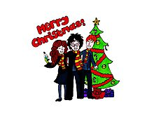 Harry Potter Christmas Design - Merry Christmas! Photographic Print