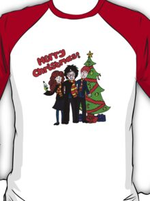 Harry Potter Christmas Design - Merry Christmas! T-Shirt