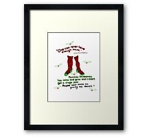 "Harry Potter Christmas Design - ""One can never have enough socks!"" Framed Print"